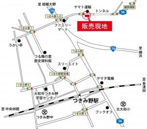 下鶴間-MAP-2_道路白黒