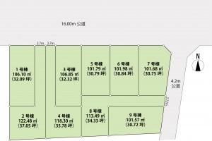 下鶴間-区画図