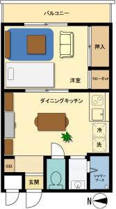 家具有り間取り図