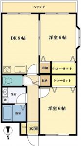 ヴェルドミール5号室タテ2